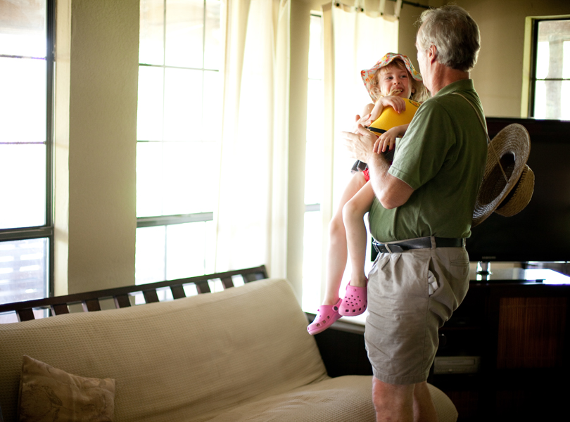 window lighting, granddad and granddaughter, photography