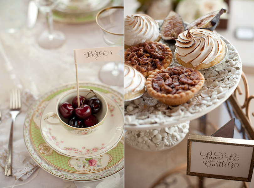 Austin Weddings, Camille Styles, The Byrd Collective, antiquaria vintage registry, cherries, desert, southern hospitality