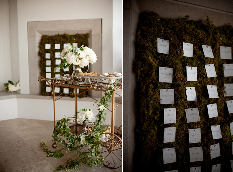Austin Weddings, Camille Styles, The Byrd Collective, antiquaria vintage registry, custom guest area, moss