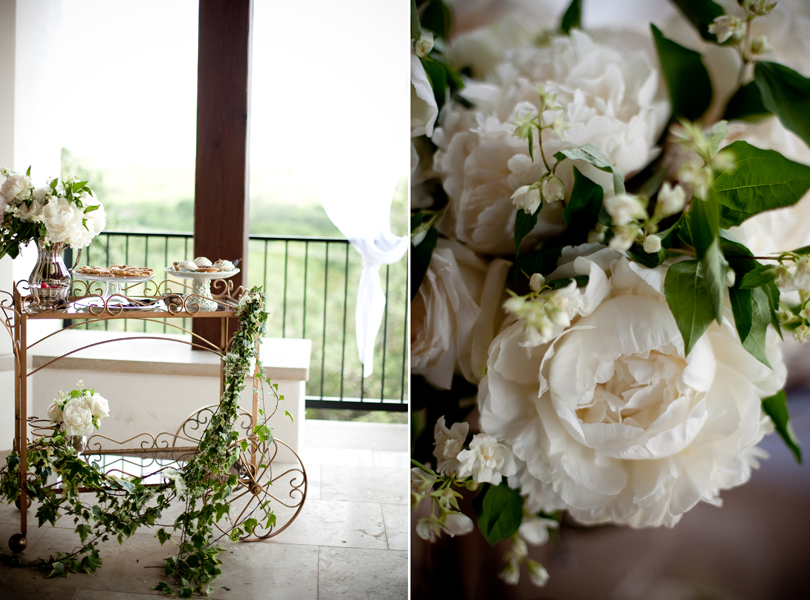 Austin Weddings, Camille Styles, The Byrd Collective, antiquaria vintage registry, centerpiece, tea cart
