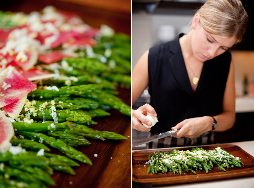 Camille Styles, The Byrd Collective, Any Style Catering, Food and Flowers, dinner party, green, asparagus