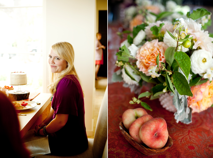 Camille Styles, The Byrd Collective, Any Style Catering, Food and Flowers, dinner party, peach, tribeza
