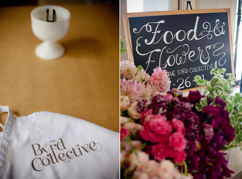 Camille Styles, The Byrd Collective, Any Style Catering, Food and Flowers, dinner party, flower instruction