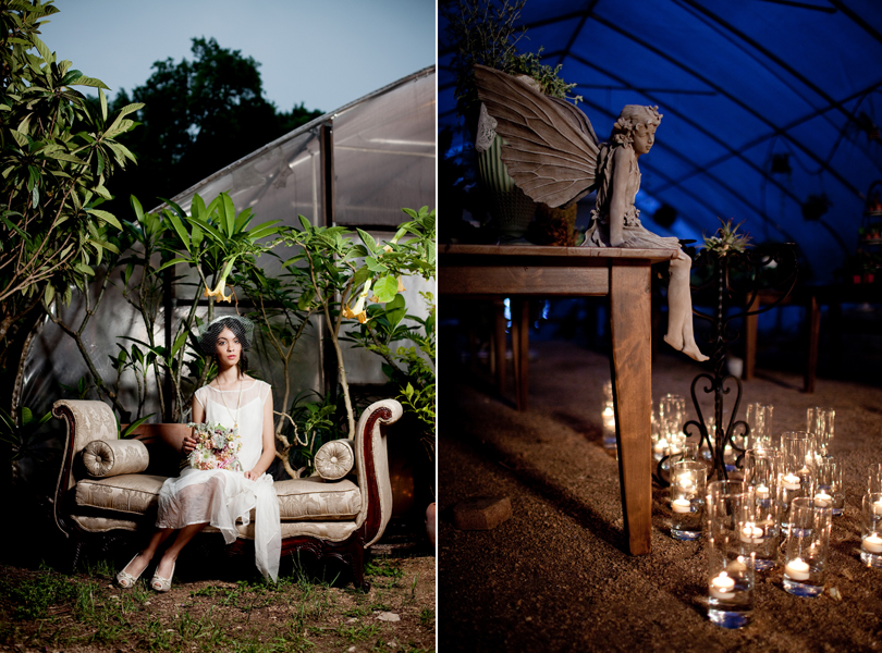 Hummingbird House, Erica Gray, milli starr, Gilda Grace Bridal, Pearl Events, Arthouse Design, Campbell agency, Melanie Howe, She-N-He, The Great Outdoors, candles, dramatic, lighting, bride, bridal bouquet
