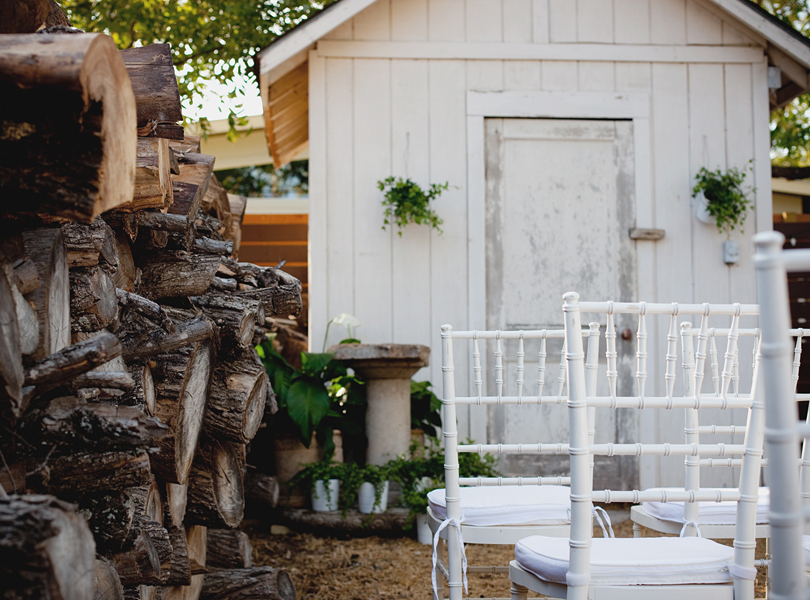 charming south austin backyard wedding, whole foods, DIY, wood grain, shabby sheik,