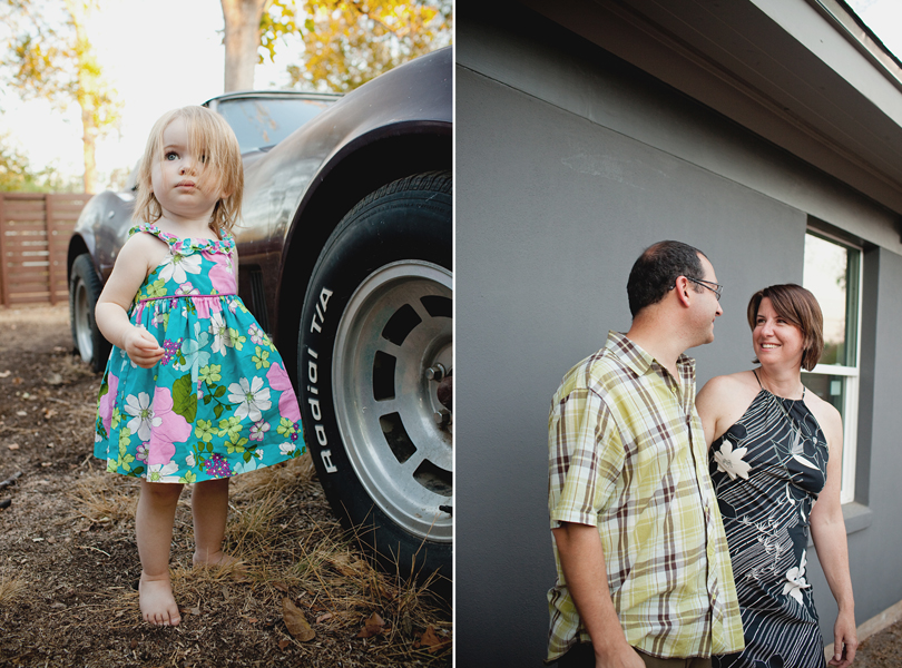charming south austin backyard wedding, whole foods, DIY, classic corvette, wedding guests, flower girl