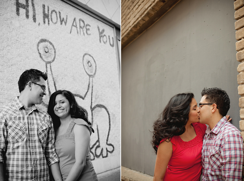 UT campus engagement session, austin engagement photographer, how are you?, hispanic new york couple