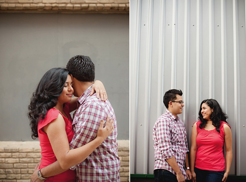 UT campus engagement session, austin engagement photographer, pink shirt, bride and groom, future mrs, hispanic couple