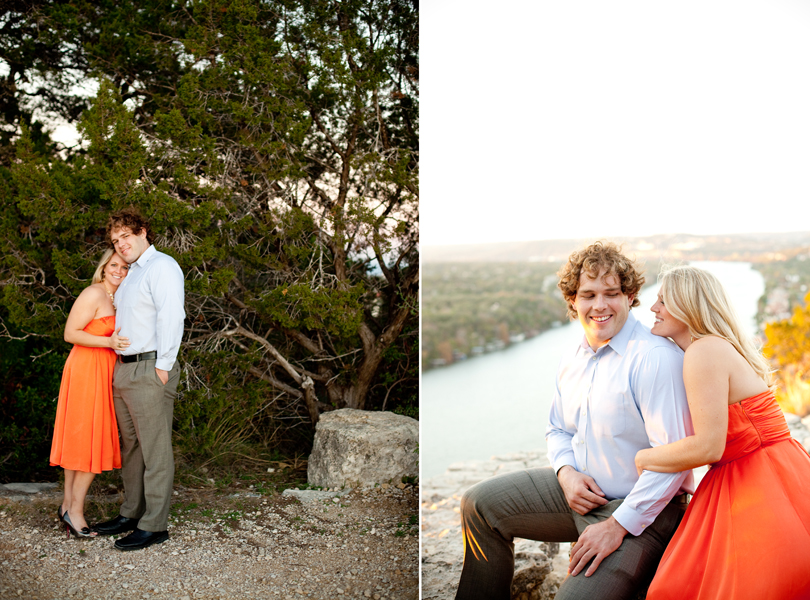 sunset dramatic views austin engagement photography