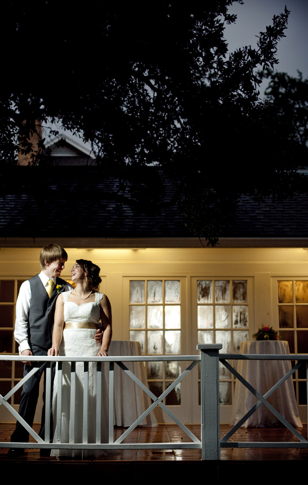 bride, groom, green pastures, austin, tx, wedding, photography, raining weather, foggy window, dusk, spot light