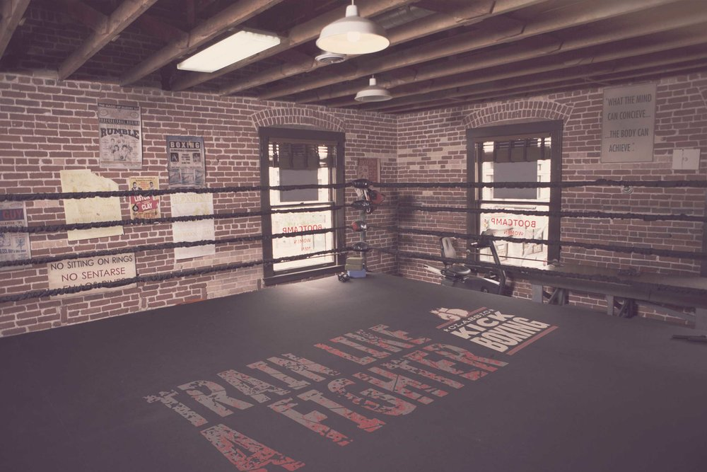 Boxing ring from the film Million Dollar Baby.