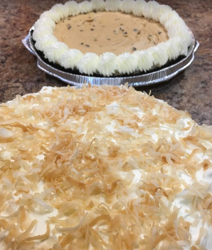 Peanut butter pie and coconut.JPG
