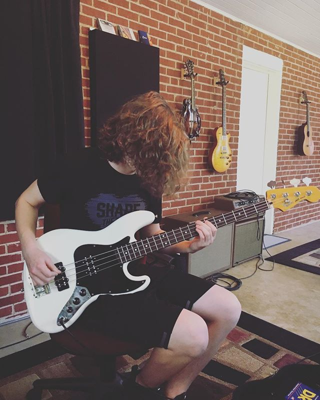 Great lesson with @mitchelwaldrop on Friday. Sometimes you need to find inspiration in music from your past. We had a great time revisiting @the1975, @johnmayer, and some awesome @martgoossens covers.
