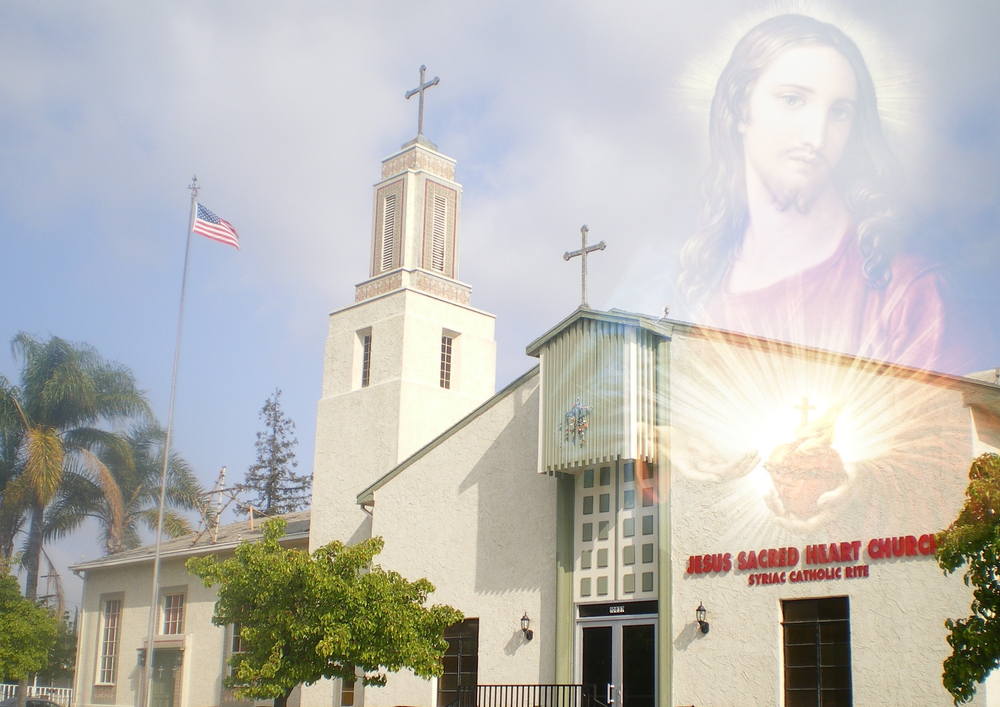 Jesus Sacred Heart Antiochene Syrian Catholic Church, 10837 Collins, N. Hollywood, Los Angeles, California   10837 Collins, N. Hollywood, Los Angeles, California