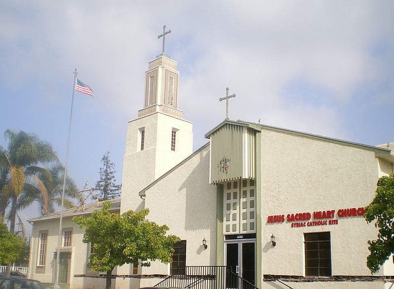 esus Sacred Heart Antiochene Syrian Catholic Church, 10837 Collins, N. Hollywood, Los Angeles, California