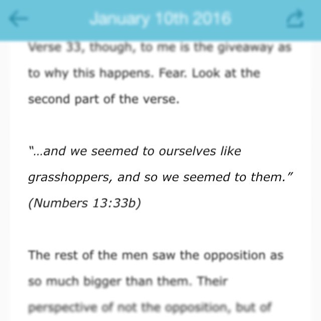 Today, in my e-devotional, I look at the story of Joshua and Caleb. Their story is found in the book of Numbers. This verse documents the voices of those who, unlike Joshua and Caleb, looked at their opposition more than their #God. Can we relate? Their perspective of themselves then enforced the view that their opponents took of them! If you walk into a #battle looking, feeling, acting and behaving like the underdog before it's even begun- what sort of impression are you giving off? YOU HAVE THE #VICTORY IN #CHRIST! Sign up for #FREE Biblical reflection- link in bio!! #Jesus #Bible #BibleStudy #1authenticheart