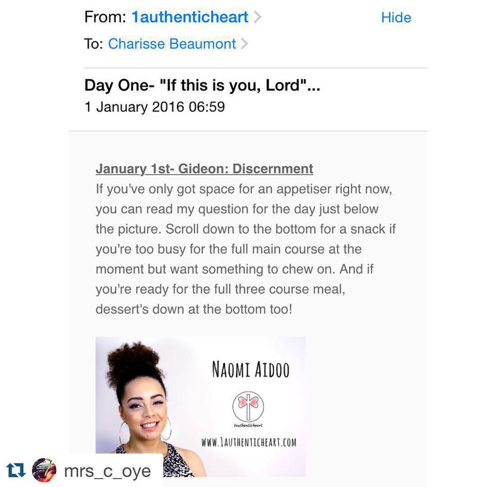 Thanks for the support @mrs_c_oye. It's not too late to subscribe, guys! Today's devotional looked at the story of Moses' call and the theme of doubt.     #Repost @mrs_c_oye with @repostapp.  ・・・  Start off as you mean to go on each day, by devoting some time to studying God's Word and knowing him more.    My sister @1authenticheart 's 30 day devotional series will be a great help as you meditate on God each morning.   Sign up here:  http://www.1authenticheart.com  - you shall be blessed!