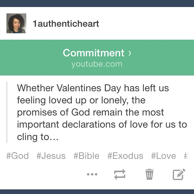 Check out my latest video by heading to  www.1authenticheart.com ! Be encouraged in the fact that Jesus is our first and true love, our redeemer and all that we need! 🙌❤️ #Jesus #God #Bible #BiOY #hope #joy #valentines #valentinesday #reallove #truelove #reflection #devotional #Love #romance #vlog #blog #youtube #Christian #faith