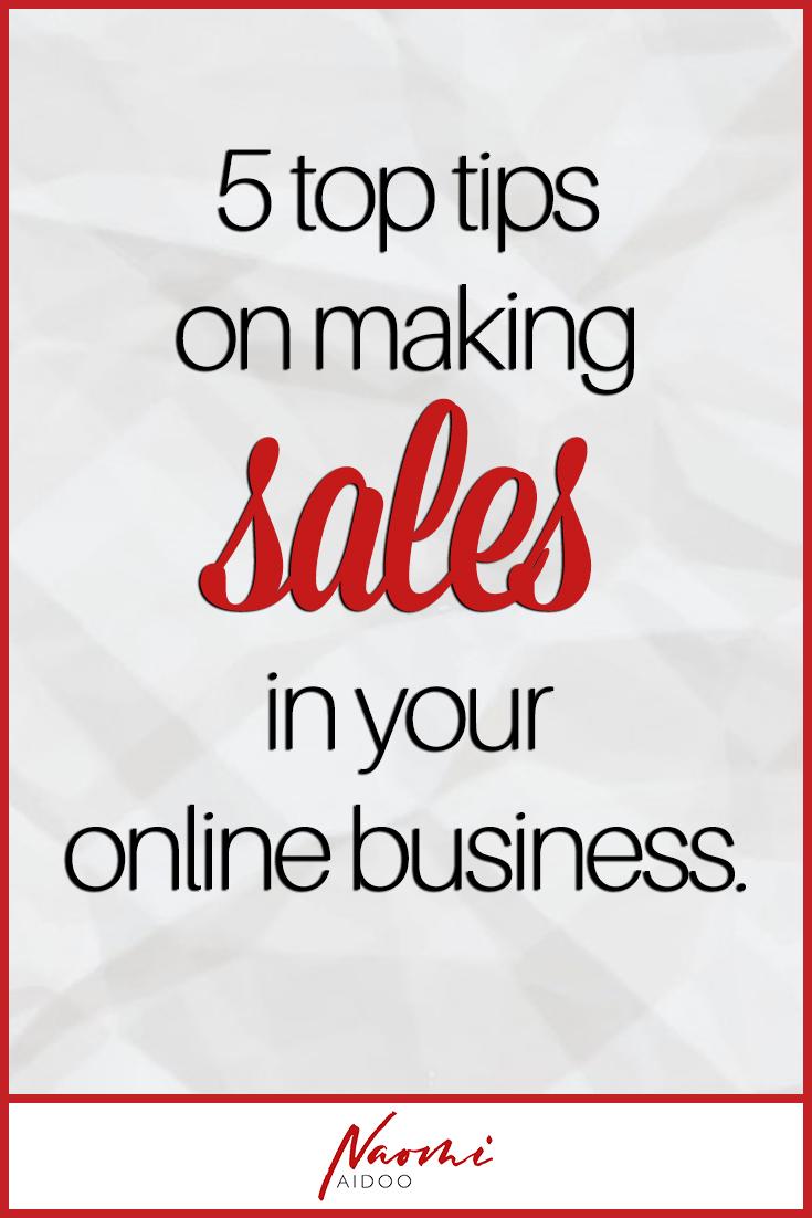 sales 5 top tips