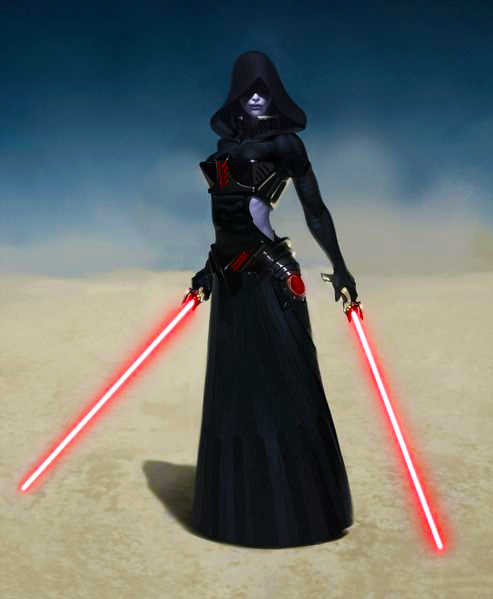 asajj ventress. My own light sabers are designed to cut away clutter, confusion, and chaos.