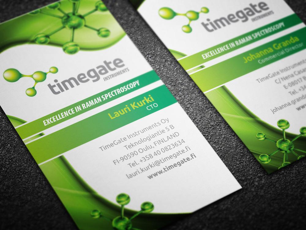 Timegate instruments käyntikortit