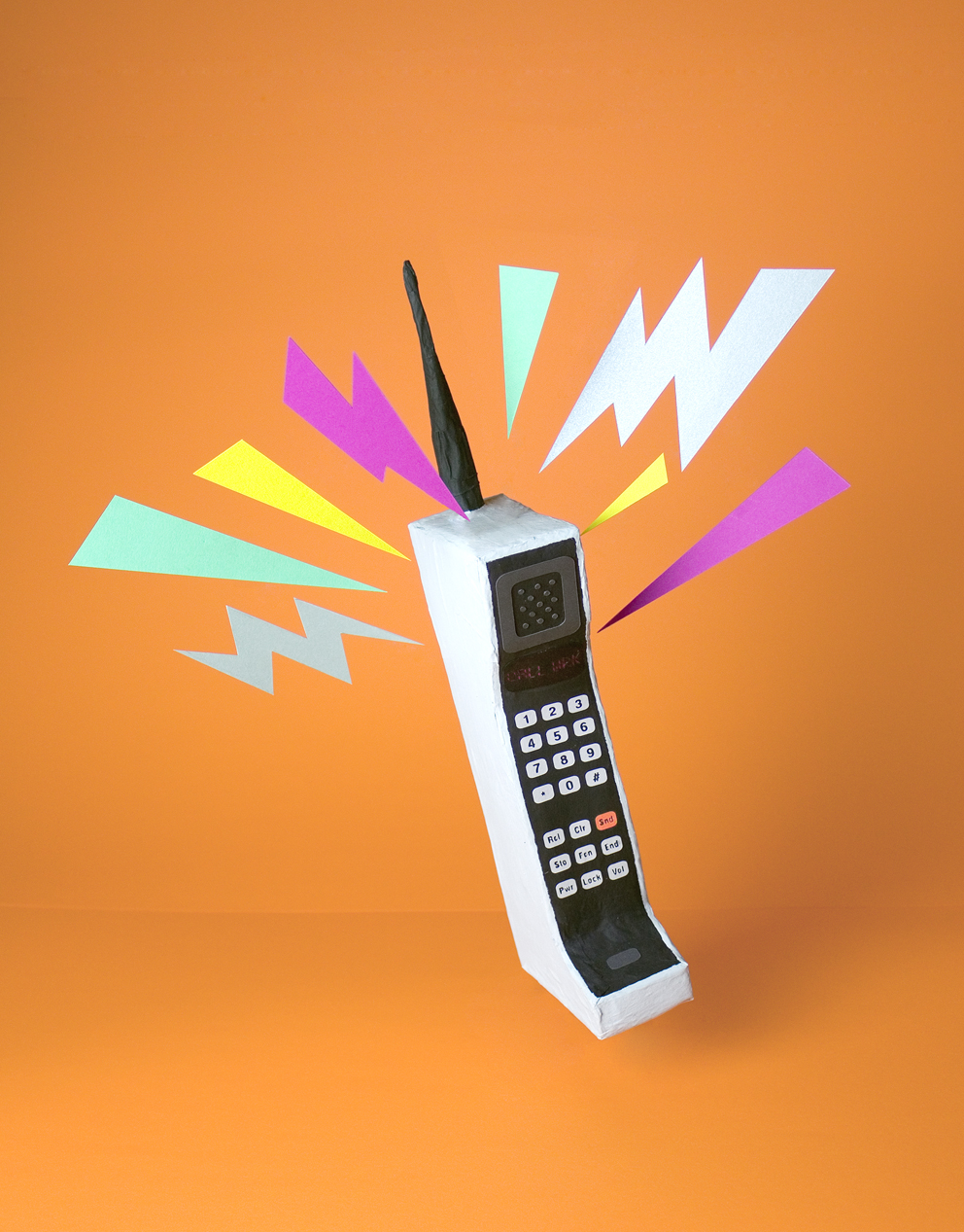 Motorola Dynatac 8000x Wrk Tactile Illustrations Paper Art