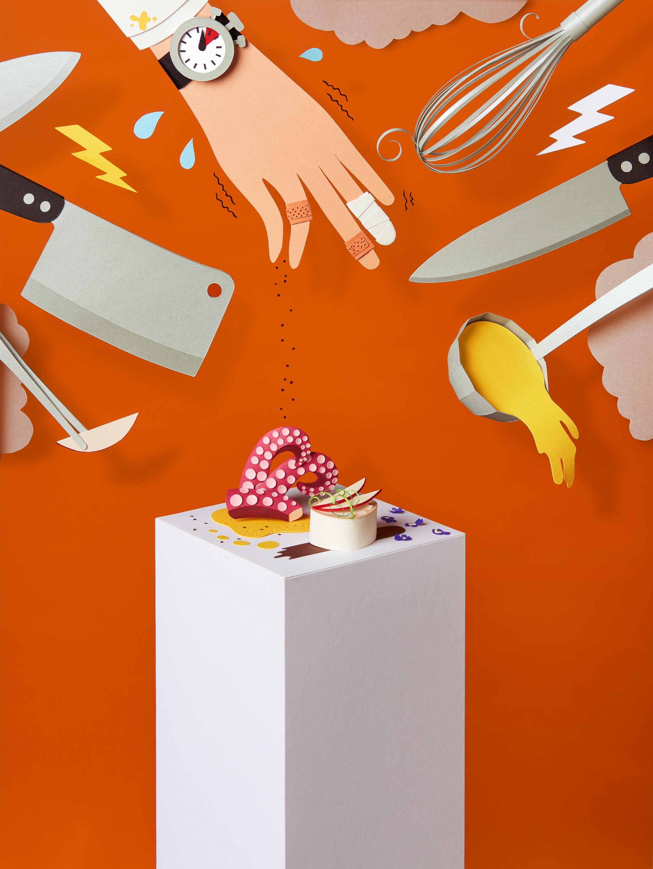 Arte Magazine Haute Cuisine Wrk Tactile Illustrations Paper Art