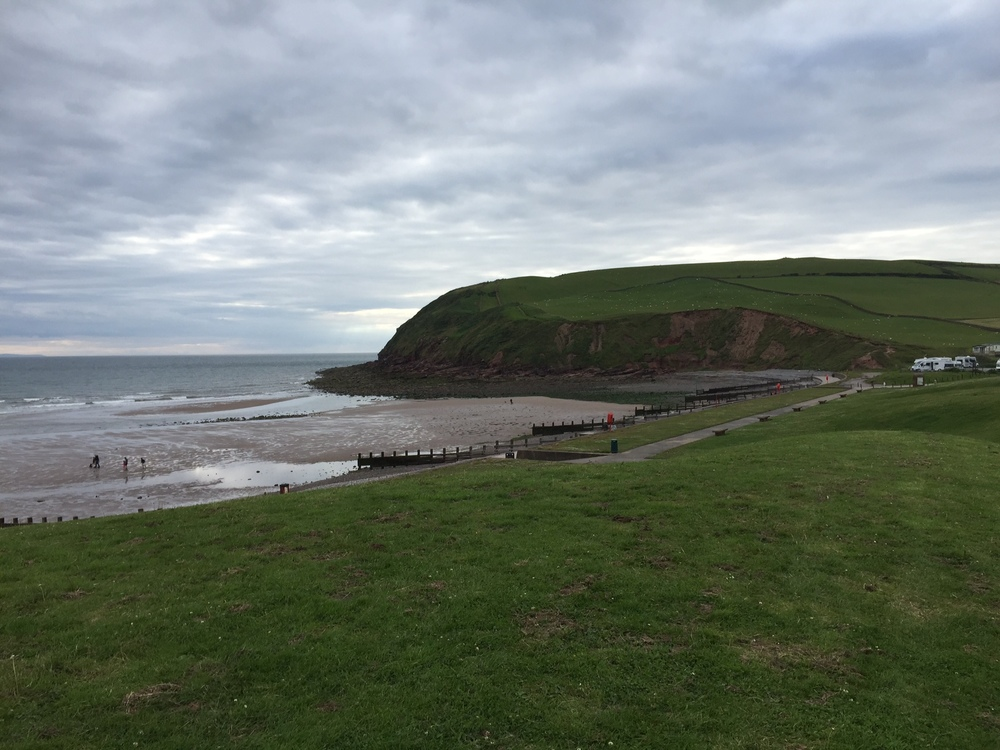 A pathway at St Bees, our starting point on the irish sea