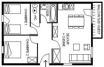 Apartament 6 os.