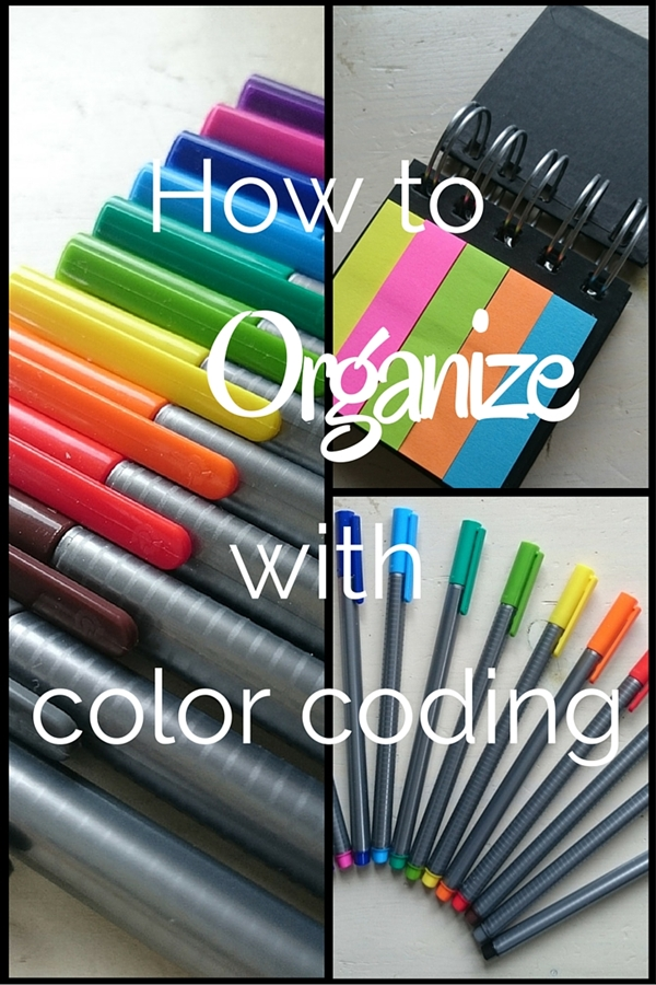 How to organize with color coding, 7 examples where you can apply color coding in your life - CollekeCreations.com
