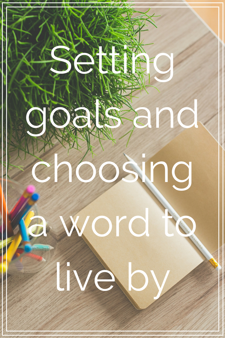 Setting goals and choosing a word to live by - collekecreations.com