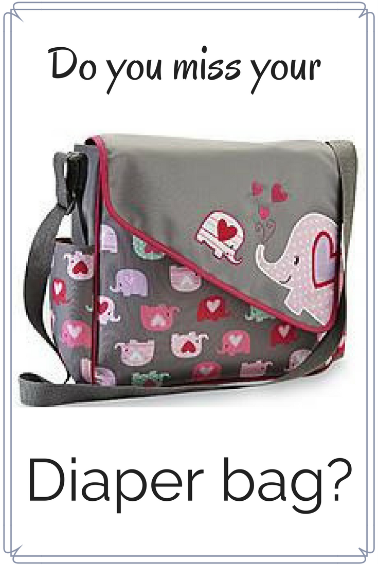 The solution to missing your diaper bag after your baby has become a big kid. Here's your next bag with all the goodies of your old diaper bag - Colleke Creations