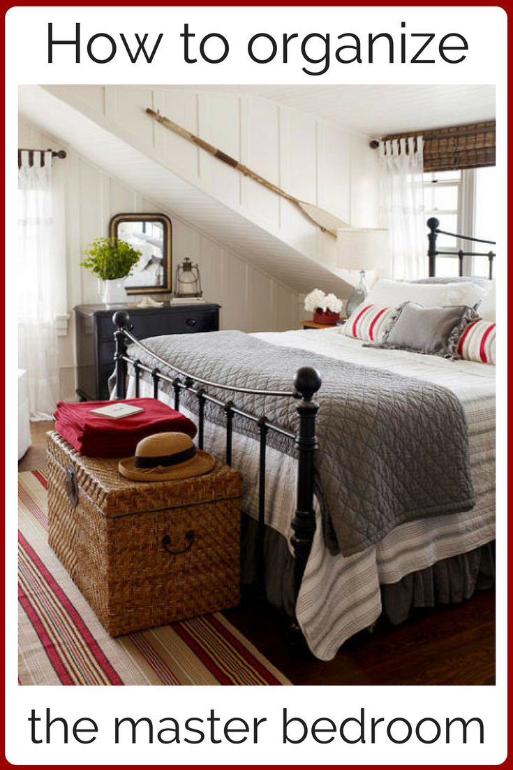 How to organize the master bedroom - You can read all about organizing your master to get it to a perfect place to relax. But first you have to get busy. Download the worksheet and in no time you have the master bedroom of your dreams.
