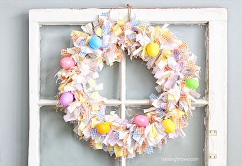 Fabric Easter wreath