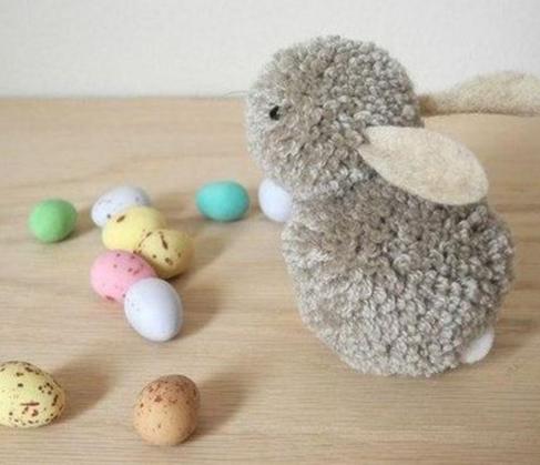 Pom pom Easter bunny