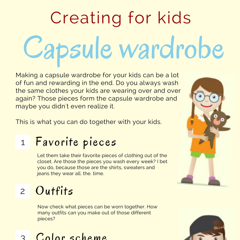 How to organize your kids' clothes - Create a capsule wardrobe for your kids and use this list to get started. You can read the blog post that goes with this here