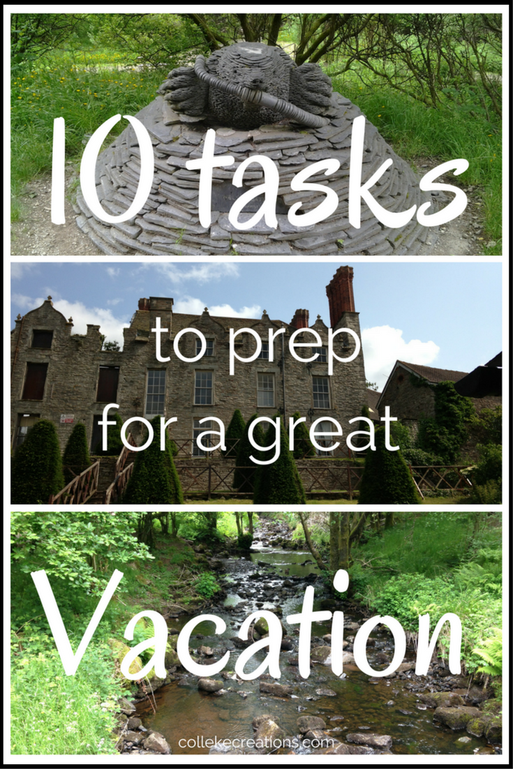 10 Tasks to prep for a great Vacation - Colleke Creations