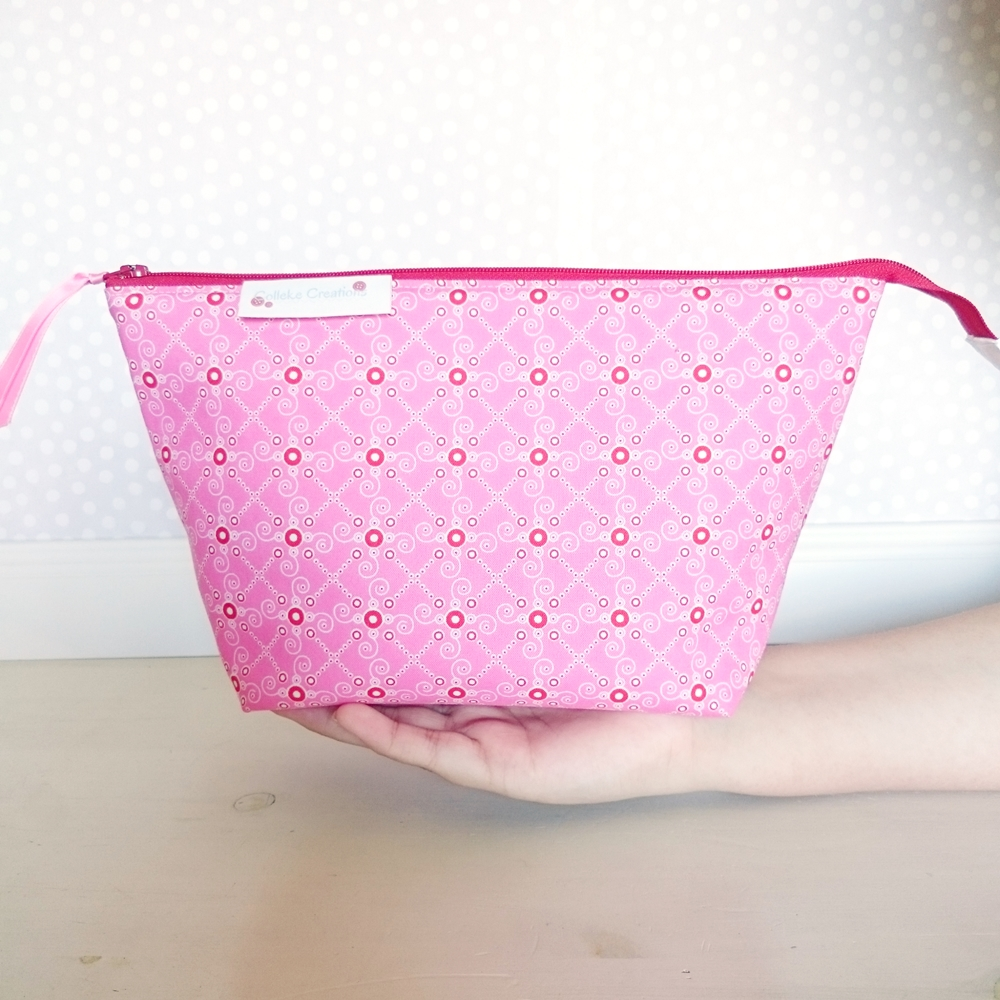 Boxed zipper pouch Jenny in pink