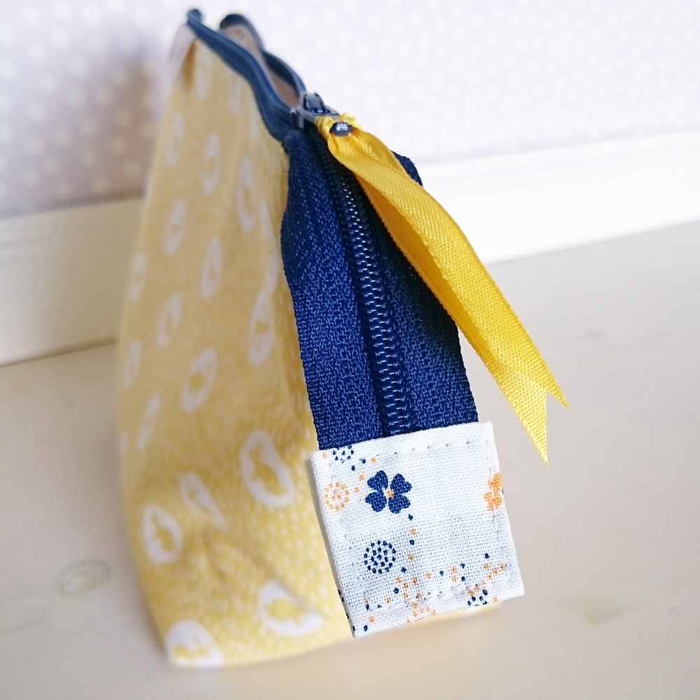 Boxed zipper pouch Jenny in yellow