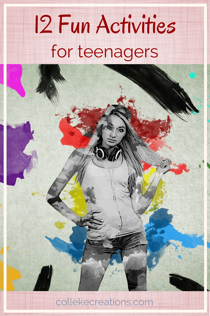 12 Fun activities for teenagers. Help your teenager spend their time other than on your phone. For them to do on their own or engage with others.