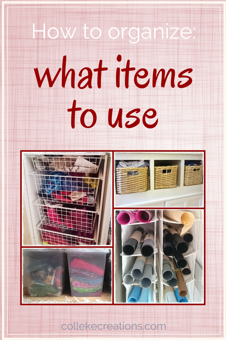 You want to start decluttering your home, so here you find 6 items to help you organize - Colleke Creations