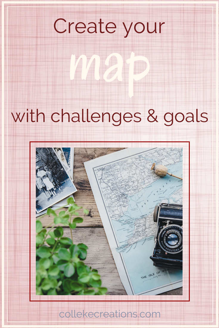 Create your map with challenges and goals - Colleke Creations