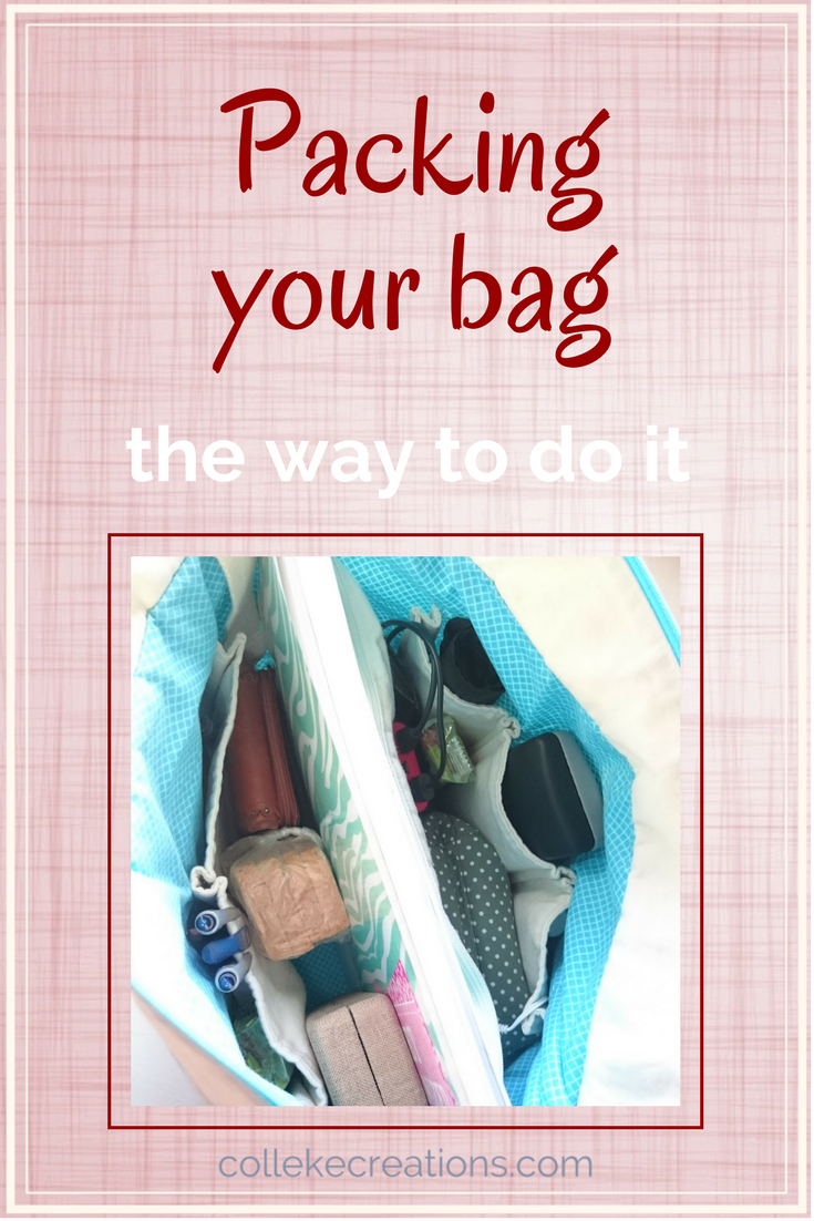 Packing your bag so you see at a glance what's in it and what's missing. Here is the one thing you need in your bag - Colleke Creations