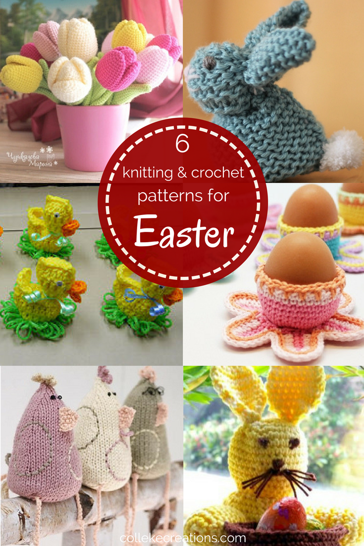 6 Knitting and crochet patterns for Easter to decorate your home - Colleke Creations
