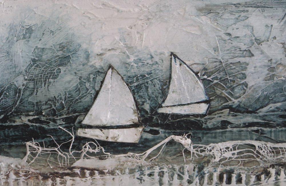 Sailing off Portland