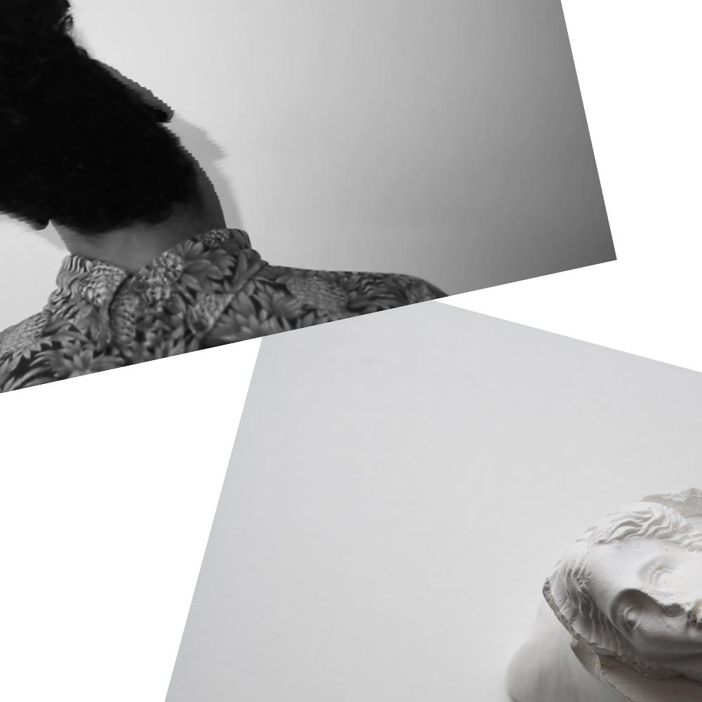 """DIALOOG #06 """"Hier creëert het een verschuiving in de niet-ruimte die de grenzen van haar tastbaarheid accentueren."""" Tiffany Wederfoort, videostill uit 'forward back .30 seconds' Lotte Wieringa, 'Venus all over'"""