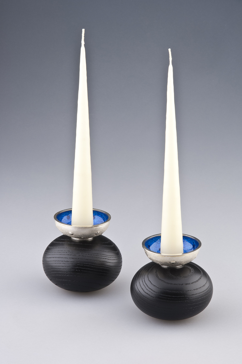 2 Blister Candle Holders