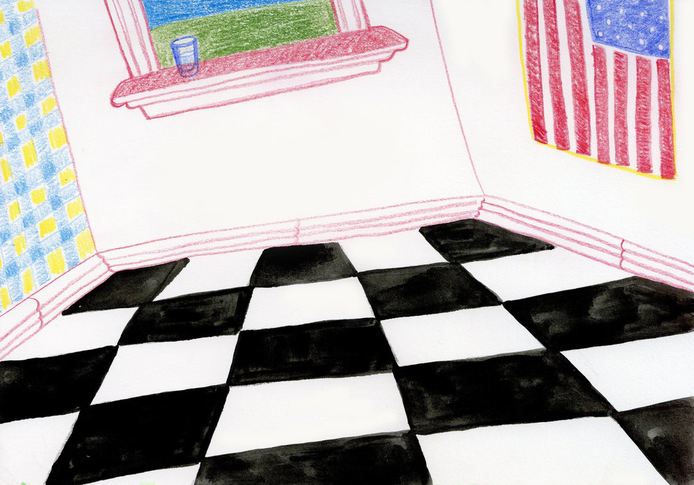 """""""Americana"""" - Colored Pencil and Water Color"""