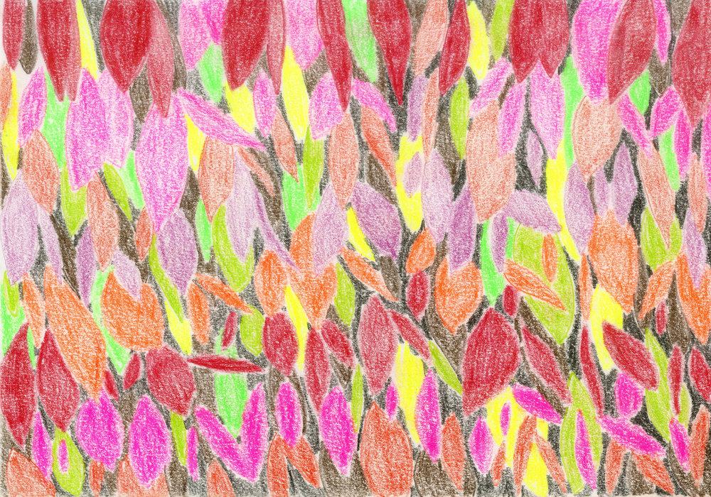 """Fall Colors II"" - Colored Pencil"