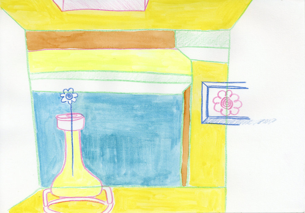 """""""Imaginary Spaces"""" - Colored Pencil and Water Color"""